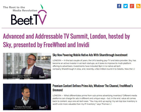 SPOT BEET tv adressable TV